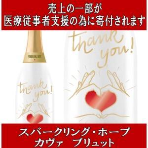(医療従事者支援の為のスパークリングワイン) スパークリング HOPE(ホープ) カヴァ ブリュット 750ml|akemibeautyshop