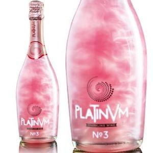 プラチナム フレグランス No.3 ローズ&オレンジ 750ml (キラシャン ラメ入り スパークリング ワイン フルーツフレーバー) (PLATINVM FRAGRANCES)|akemibeautyshop