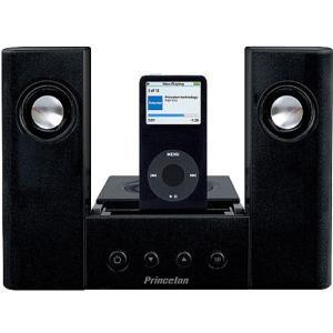 アウトレット プリンストン iPodシリーズ(iDock端子)専用 2.1ch マルチメディアスピーカー 最大出力12W 乾電池対応 AUX PSP-312IPB|akiba-e-connect