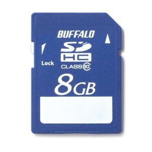 BUFFALO SDHCメモリーカード 8GB Class10 RSDC8GC10【0330】|akiba-e-connect