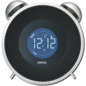 アウトレット Edifier 目覚まし時計型 Bluetooth スピーカー TickTock BT アラーム FMラジオ 機能搭載 AUX 置き時計 デジタル ブラック MF240BT-BK|akiba-e-connect