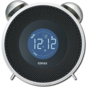 アウトレット Edifier 目覚まし時計型 Bluetooth スピーカー TickTock BT アラーム FMラジオ 機能搭載 AUX 置き時計 デジタル ホワイト MF240BT-WH|akiba-e-connect