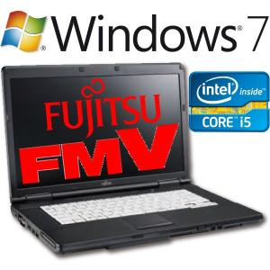 中古 送料無料 Fujitsu ノートパソコン LIFEBOOK 本体 Core i5 2520M Windows7 Professional 64bit 富士通 A561/C FMVNA4NE 筆まめ WPS Office付き オフィス付き|akiba-e-connect