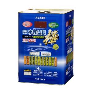 サンデーペイント 水性多目的塗料 つやあり 水性エコアクア 14L 常備色 【送料無料】-チョコレート|akiba-paint-web