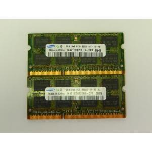 [中古] ノート用メモリ SODIMM PC3-8500(DDR3-1066) 2GBx2|akiba-yushop