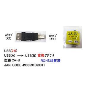 USB A(メス) - USB B(オス)変換アダプター comon 2A-B|akibahobby