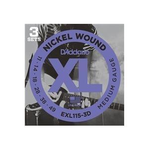 【国内正規品】EXL115-3D エレキギター弦 ニッケル 3setパック Blues/Jazz Rock .011-.049|akibaoo