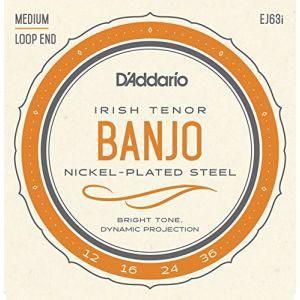 DADDARIO 0019954910853  10個 D& 039 Addario テナーバンジョー弦 ニッケル Medium 4弦 EJ63i