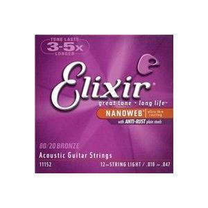 【国内正規品】Elixir #11152 AntiRustNANOWEB12-StringLight アコースティック弦アンチラスト12弦ライト|akibaoo