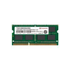 【メール便選択可】トランセンド TS512MSK64V6N4GB DDR3 1600Mhz SO-DIMM 2Rx8 256Mx8 CL11 1.5V|akibaoo