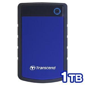 USB3.1 Gen 1 2.5インチ ポータブルHDD 耐衝撃 1TB TS1TSJ25H3B ネイビーブルー|akibaoo