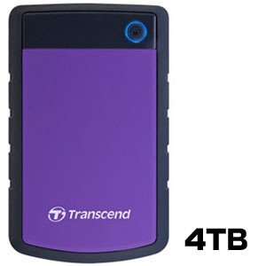 USB3.1 Gen 1 2.5インチ ポータブルHDD 耐衝撃 4TB TS4TSJ25H3P パープル|akibaoo