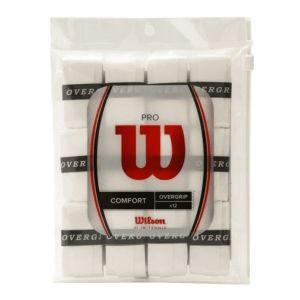 ウィルソン Wilson テニス バドミントン グリップテープ 錦織圭・松友美佐紀使用 PRO OVERGRIP (プロオーバーグリップ) 12個入り ホワイト|akibaoo