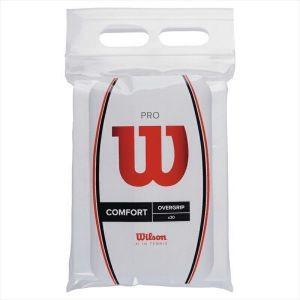 ウィルソン Wilson テニス バドミントン グリップテープ 錦織圭・松友美佐紀使用 PRO OVERGRIP (プロオーバーグリップ) 30個入り ホワイト|akibaoo