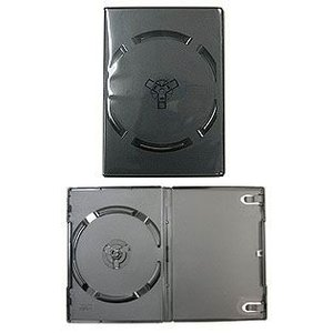 DVDトールケース 黒 1枚収納 アマレーサイズ|akibaoo