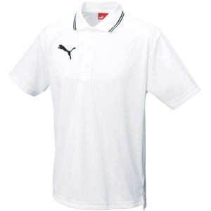 PUMA プーマ ライン入り 半袖ポロシャツ 97 ホワイト S 864221|akibaoo