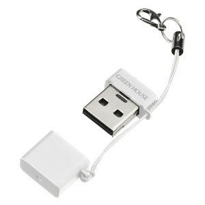 USBコンパクトカードリーダーライター GH-CRMR-MMW(ホワイト) MicroSDXC対応|akibaoo