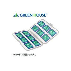 【メール便選択可】グリーンハウス GH-CA-SD12W SDカードケース 12枚収納タイプ|akibaoo
