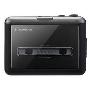 カセットテープ変換プレーヤー microSDタイプ GH-CTPB-BK(ブラック)|akibaoo