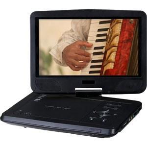 10型ワイドポータブルDVDプレーヤー 乾電池モデル GH-PDV10V-BK(ブラック) 1024×600|akibaoo