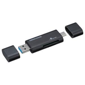 コンパクトカードリーダー USB Type-C GH-CRACA-BK|akibaoo