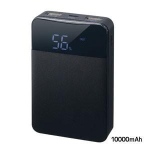 モバイルバッテリー10000mAH ブラック GH-BTF100-BK|akibaoo