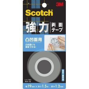 スコッチ 強力両面テープ 凸凹面用 19mm×1.5m KH-19 akibaoo