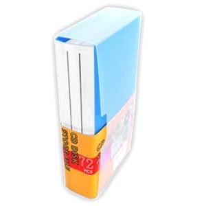 記録メディア72枚収納ファイルケース CD DVD ディスク ブルー YCD-72BL ブックタイプ|akibaoo
