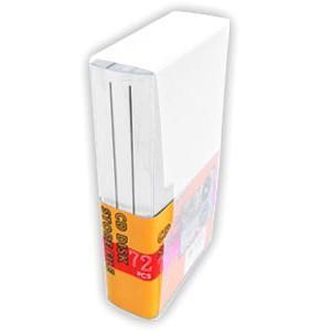 記録メディア72枚収納ファイルケース CD DVD ディスク クリア YCD-72CL ブックタイプ|akibaoo