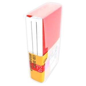 記録メディア72枚収納ファイルケース CD DVD ディスク レッド YCD-72RE ブックタイプ|akibaoo
