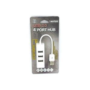 USBハブ 4ポート(ホワイト)  PC ノートパソコン パスパワー HUB|akibaoo