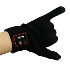 ブルートゥース手袋 ブラック 手袋をしたまま話せるガジェット|akibaoo