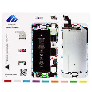【メール便選択可】iPhone6Plus/6sPlus図解ねじマップ マグネットシート これでネジが無くならない akibaoo