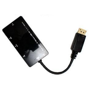 DisplayPort変換アダプター HDMI DVI VGA+オーディオに変換 ブラック|akibaoo