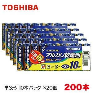 アルカリ乾電池セット 単3形 200本入り (10本パック×20個) LR6L 10MP|akibaoo