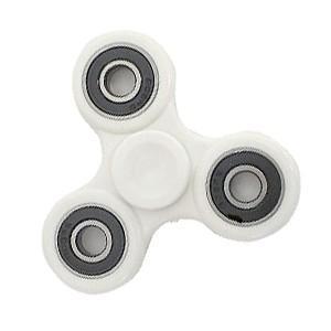指スピナー ホワイト fidget toy イライラ防止に|akibaoo