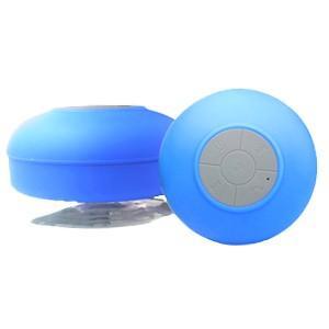 ブルートゥース Bluetooth スピーカー 防水仕様 吸盤付き ブルー|akibaoo
