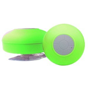 ブルートゥース Bluetooth スピーカー 防水仕様 吸盤付き グリーン|akibaoo