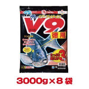 マルキユー マルキュー グレパワーV9(徳用) 3000g×8袋 1ケース メジナ グレ|akibaoo