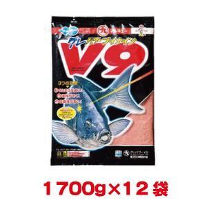 マルキユー マルキュー グレパワーV9(ブイナイン) 1700g ×12袋 1ケース メジナ グレ|akibaoo