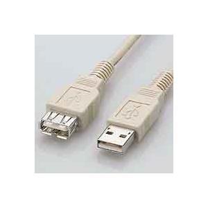 【メール便選択可】USBケーブル 延長 Aオス-Aメス 1m USB2-EXA1BG(ベージュ)|akibaoo