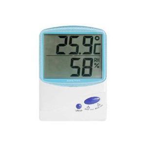 デジタル温湿度計 ブルー O-206BL|akibaoo