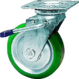 シシク SISIKU スタンダードプレスキャスター ウレタン車輪 自在ストッパー付 150径 UWJB-150|akibaoo
