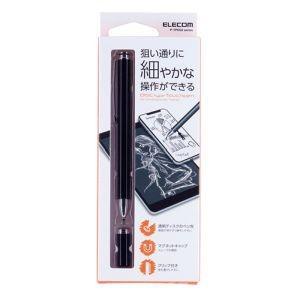 エレコム ELECOM スマートフォン・タブレット用 スタンダードディスクタッチペン ブラック P-TPD02BK|akibaoo