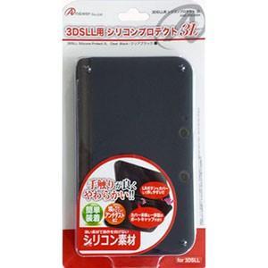 3DS LL用 「シリコンプロテクト 3L」 (クリアブラック) ANS-3D030BK