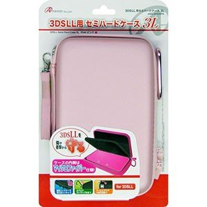 3DS LL用 「セミハードケース 3L」 (ピンク) ANS-3D026PK