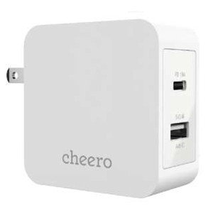 2 port PD Charger White CHE-327-WH
