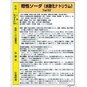ユニット 815-12A 特定化学物質標識 苛性ソーダ|akibaoo