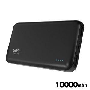 モバイルバッテリー 10000mAh USB2Port/2.1A・1A出力/INPUT:2A/重量220g ブラック SP10KMAPBK100P0KJE|akibaoo