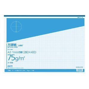 上質方眼紙 A3 1mm目 ブルー刷り 50枚とじ ホ-18B|akibaoo